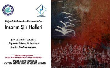 Boğaziçi Mezunlar Korosu Konseri; Aralık 7, ESKİŞEHİR Atatürk Kültür Sanat Ve Kongre Merkezi'ndeyiz. Boğaziçi Mezunlar Korosu Şef Mahmut Abra Hakkında Bilgiler Nedir.