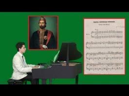 MECİDİYE MİLLİ MARŞI, İlk Osmanlı Ulusal Resmi Marş, Beste: Donizetti, Piano Ottoman National Anthem